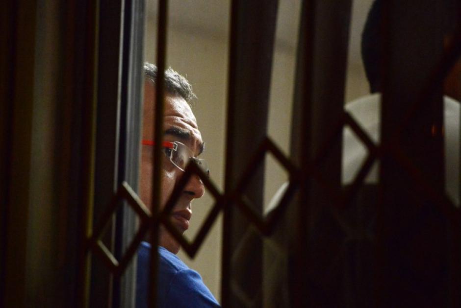 Antonio Rodriguez Orellana, sospechoso de la muerte de Cáceres, espera para declarar. (Foto: AFP)