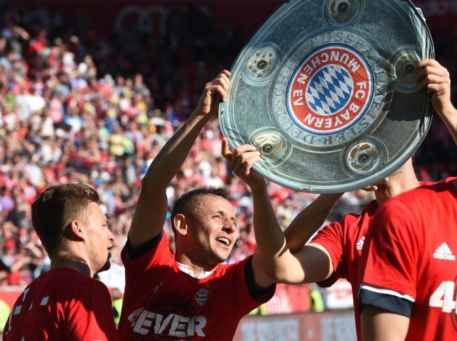 Los bávaros festejan su título 26 en la historia. (Foto: AFP)