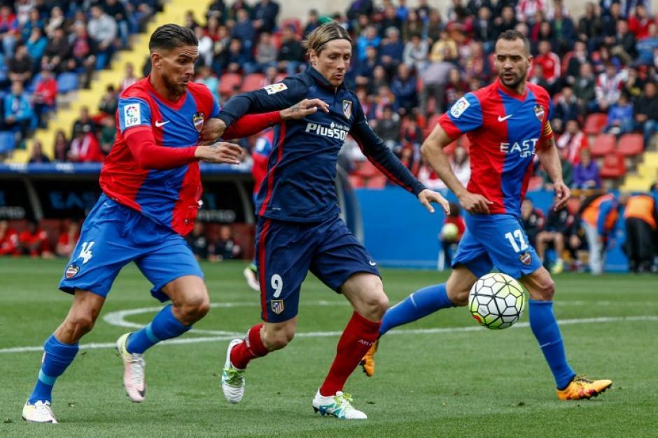 Fernando Torres anotó el primer gol del Atlético de Madrid ante Levante.