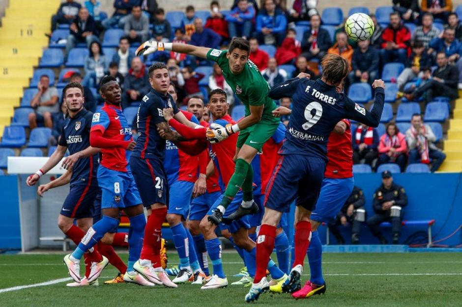 Levante le complicó al Atlético de Madrid en la pelea por el título de la Liga de España. (Foto: AFP)