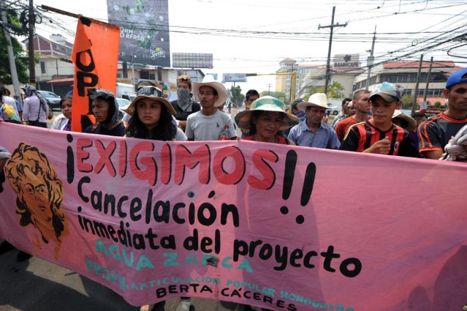 Exigen justicia en Honduras para Berta Cáceres. (Foto: AFP)