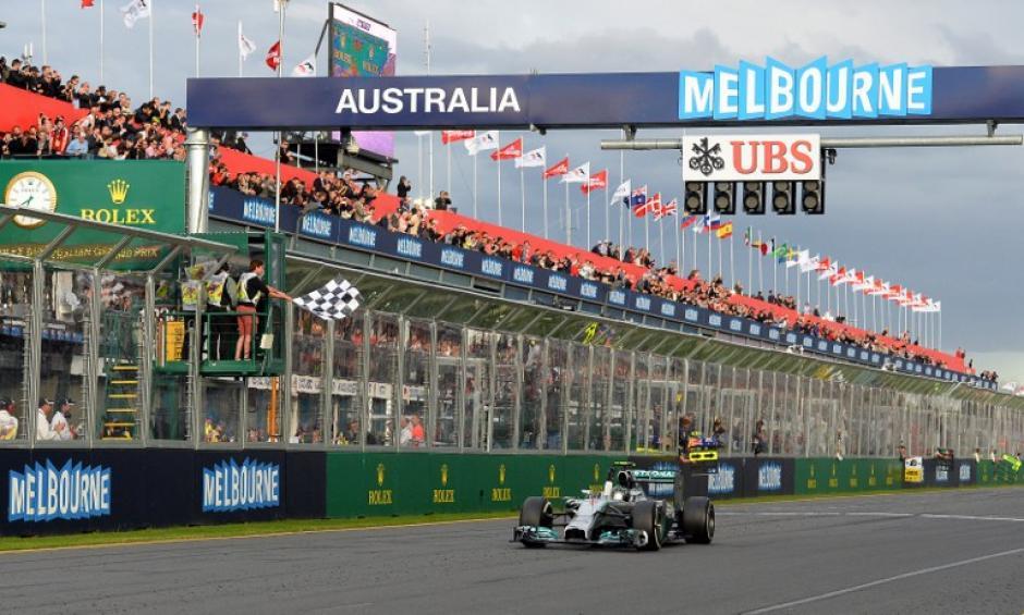 El piloto alemán de Mercedes, Nico Rosberg, al momento de ganar el Gran Premio de F1 Australia 2014. (Foto: AFP)