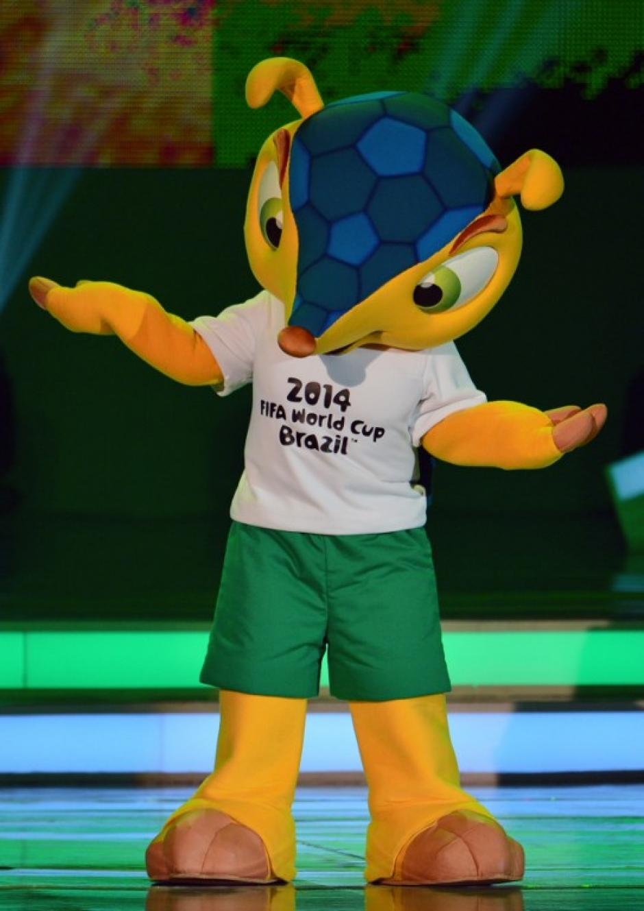 Casi dos millones de internautas brasileños votaron para que el armadillo fuese elegida la mascota de Brasil 2014. Foto AFP