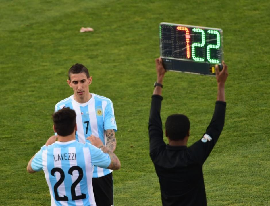 Argentina perdió una de sus armas ofensivas, con la salida por lesión de Ángel Di María. (Foto: AFP)