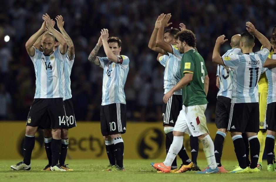 Argentina derrotó en casa a Bolivia con un marcador de 2-0. (Foto: AFP)