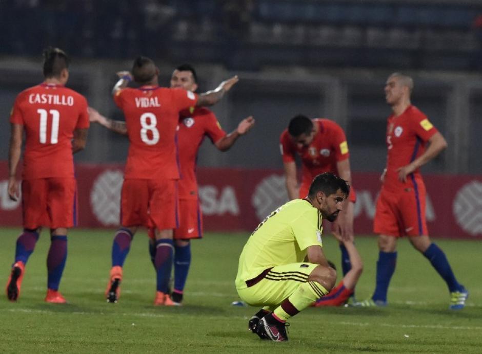 Chile obtuvo un gran resultado al derrotar 4-1 de visita a Venezuela. (Foto: AFP)