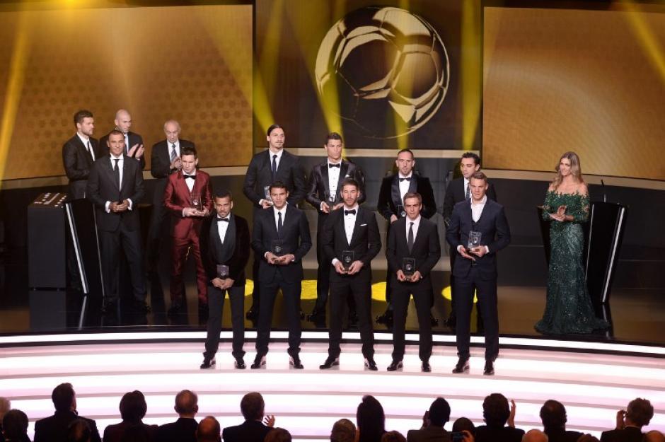 Estos son los jugadores que conforman el Once Ideal 2013 de la FIFA. (Foto: Fabrice Coffrini/AFP)