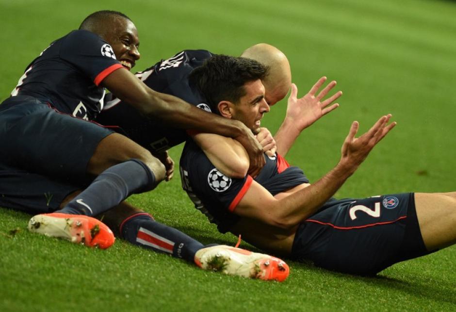 El argentino Javier Pastore anotó al minuto 90+4 el gol que puso el 3-1 definitivo para el PSG sobre el Chelsea. (Foto: AFP)