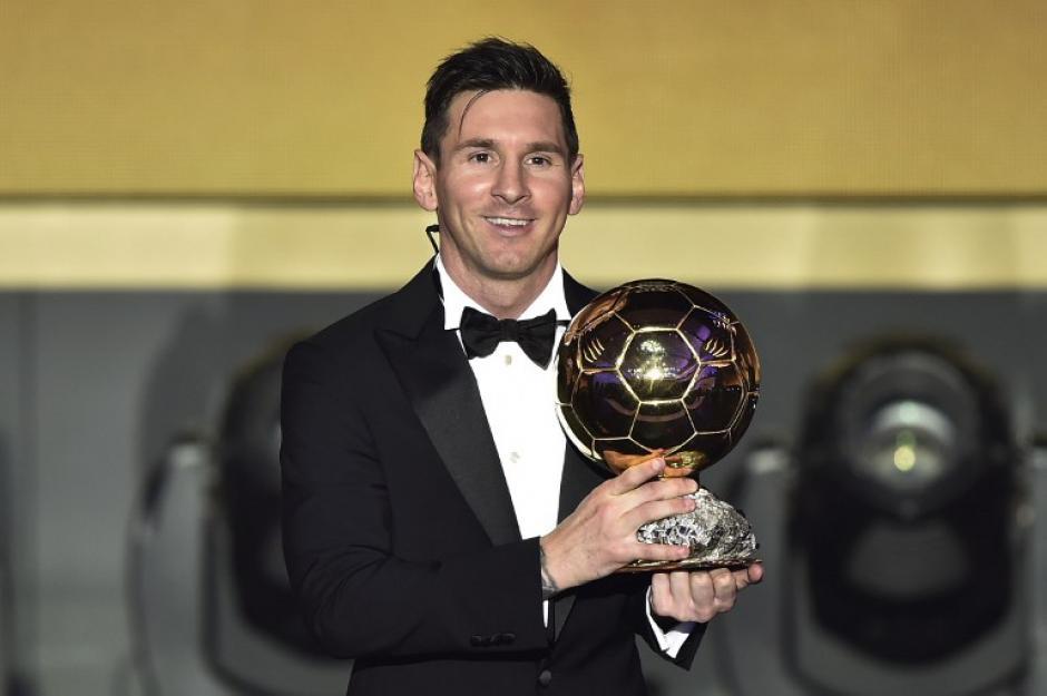 Lionel Messi ya suma cinco premios al Balón De Oro