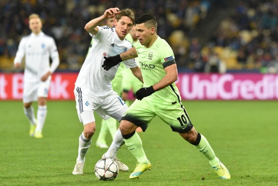 """El """"Kun"""" Agüero comandó el ataque del Manchester City. (Foto: AFP)"""