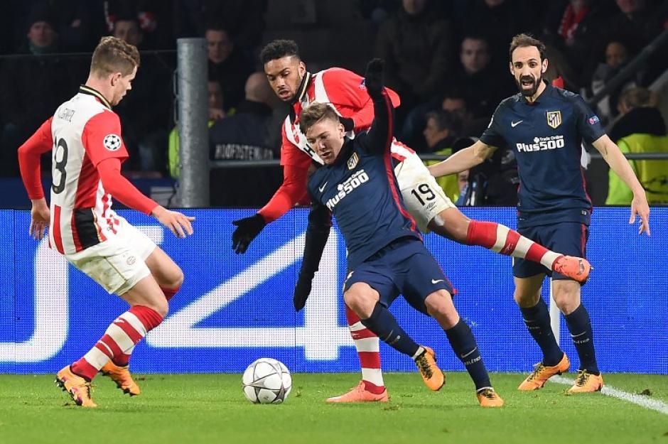 PSV y Atlético de Madrid empataron sin goles en Holanda. (Foto: AFP)