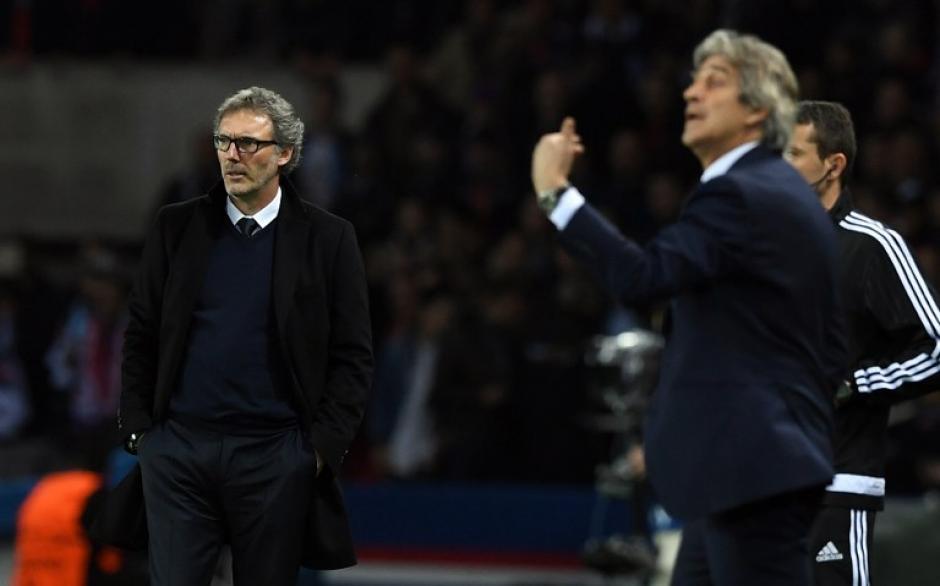 Duelo de técnicos Banc y Pellegrini. Todo se definirá en el juego de vuelta. (Foto: AFP)