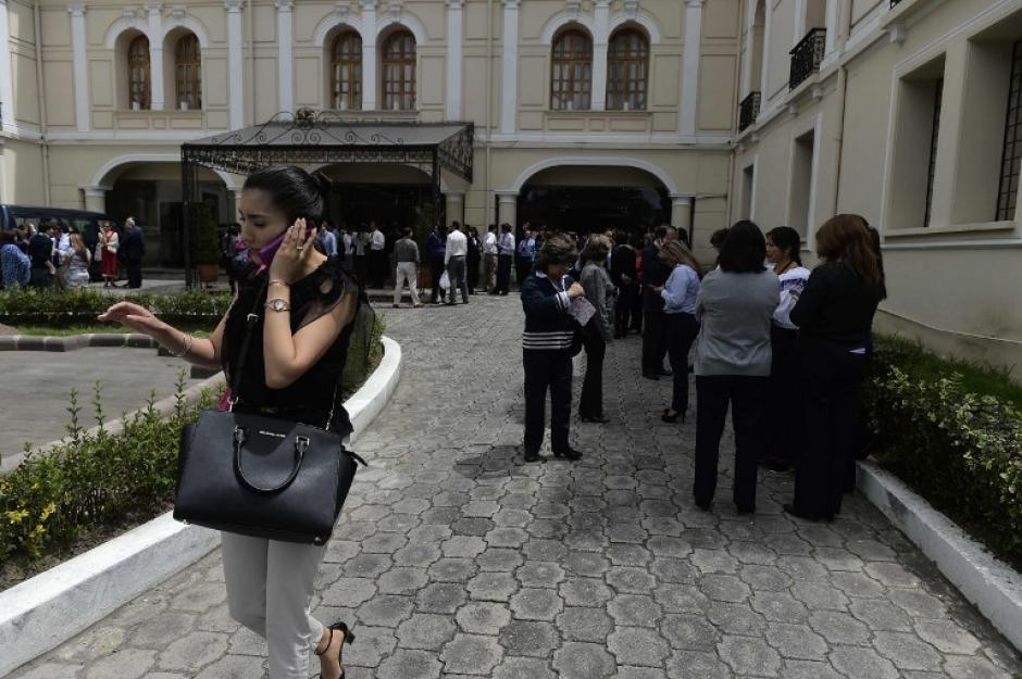 Un plan de evacuación fue implementado de inmediato. (Foto: AFP)