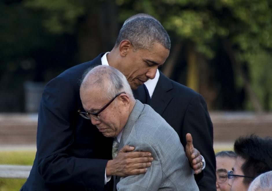 Barack Obama, se convirtió este viernes en el primer presidente estadounidense en visitar la ciudad de Hiroshima,(Foto: AFP)