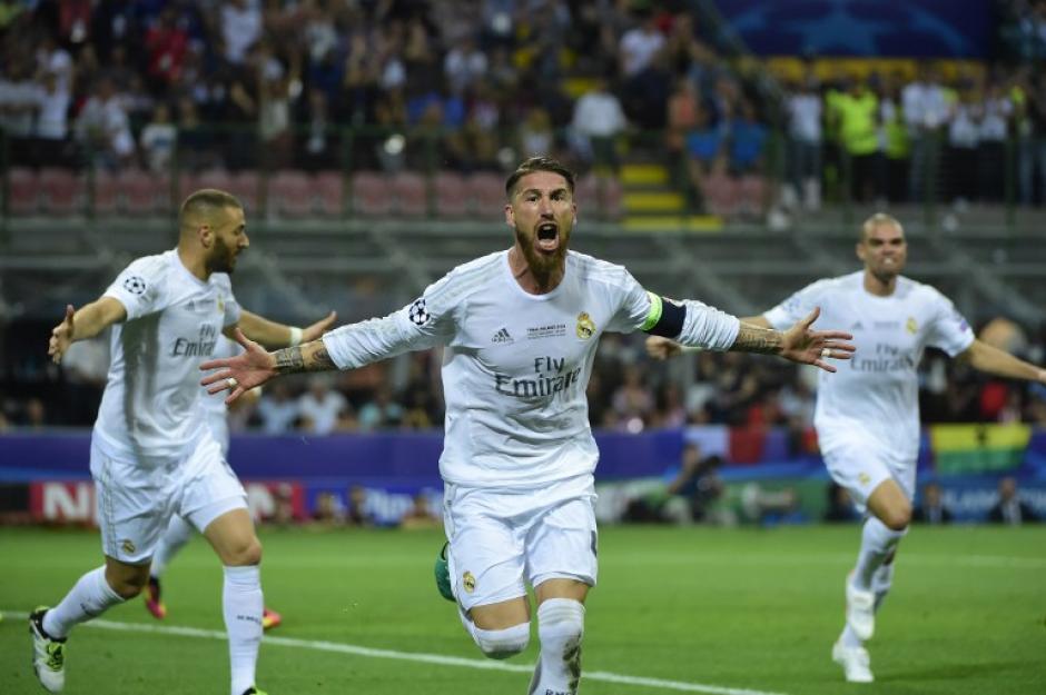 Sergio Ramos abrió el marcador para Real Madrid, anotó al minuto 14. (Foto: AFP)