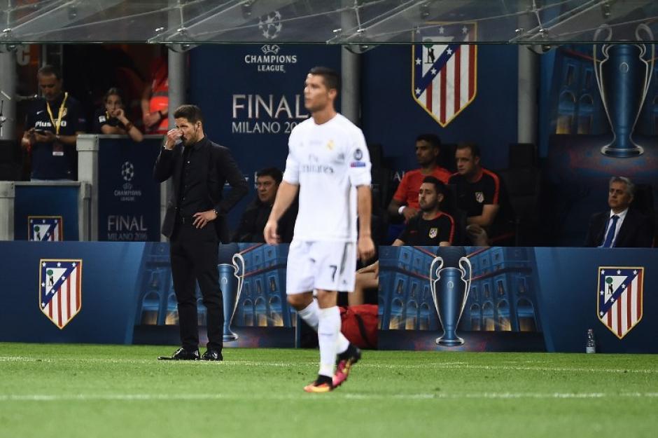 Cristiano Ronaldo no tuvo la magia que siempre demuestra para resolver la defensa del Atlético de Madrid. (Foto: AFP)
