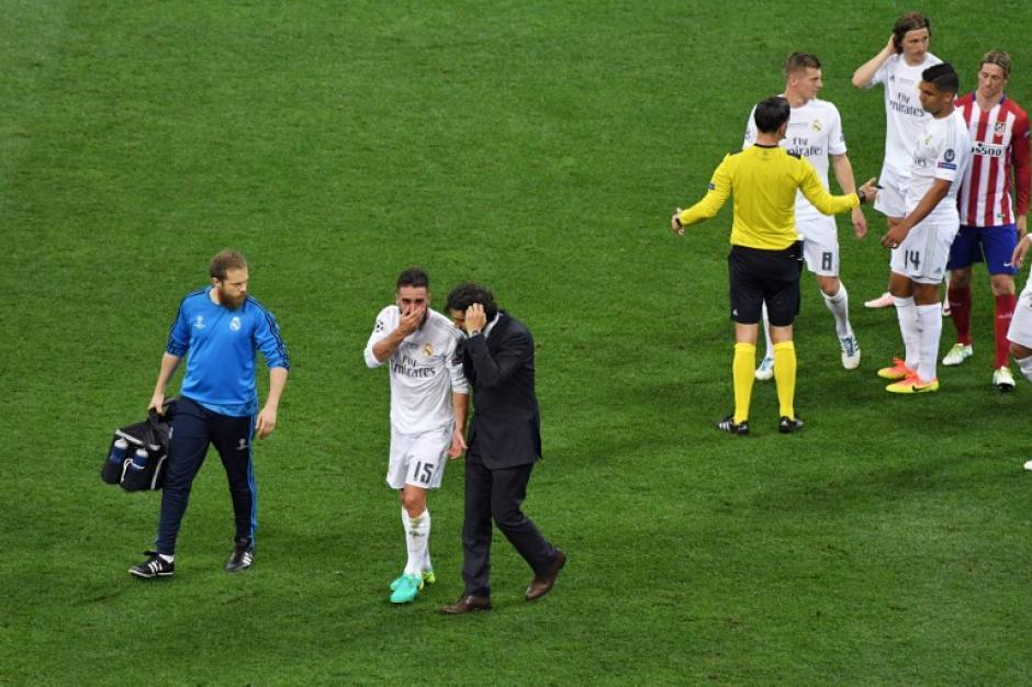 Carbajal salió lesionado en el primer tiempo. (Foto: AFP)