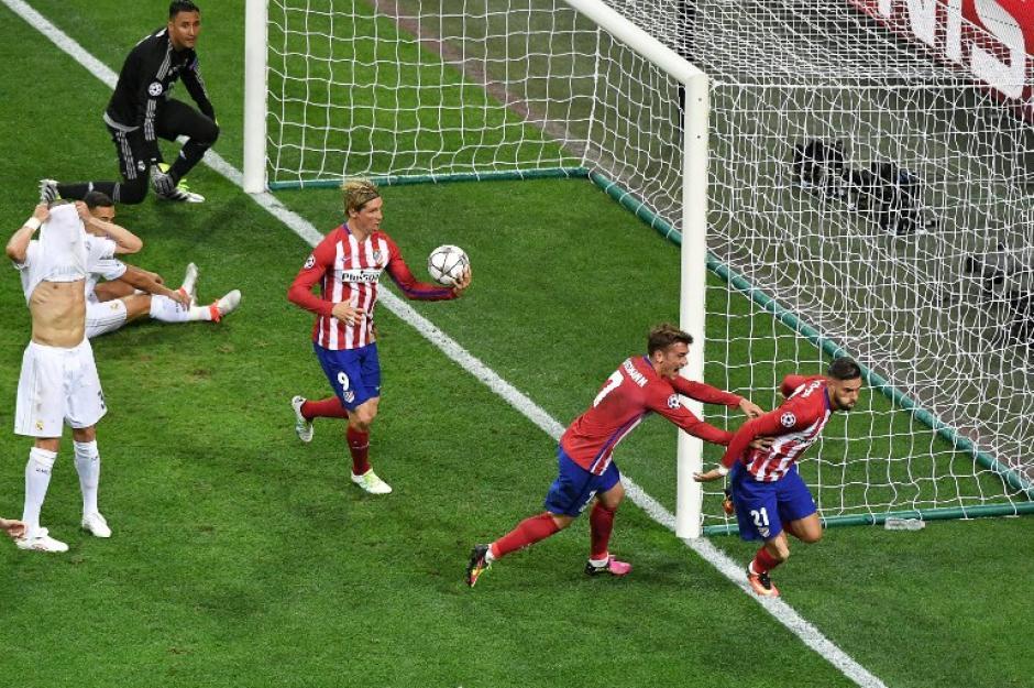 El Atlético festejó el empate parcial durante los 90 minutos. (Foto: AFP)