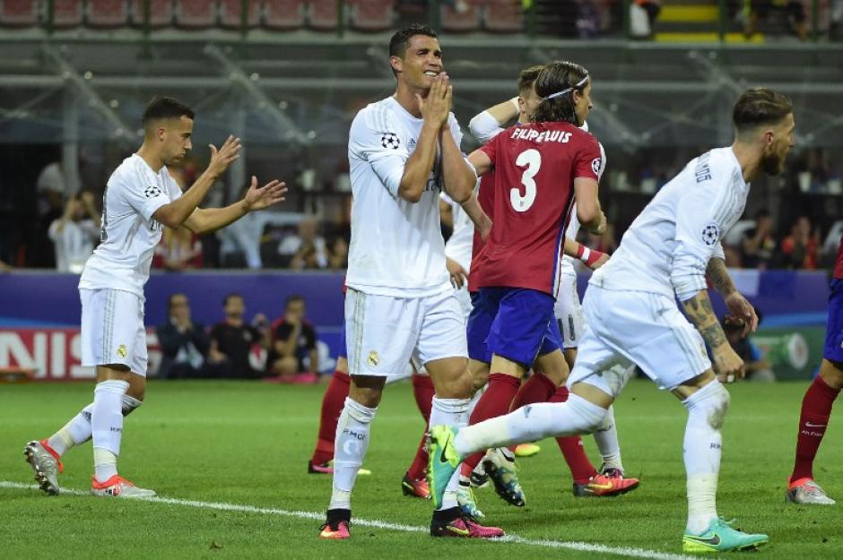 El portugués trató de muchas maneras anotar frente el Atlético, pero no tuvo la puntería afinada. (Foto: AFP)