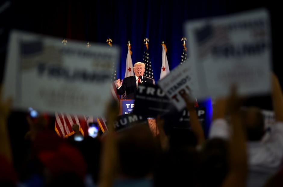 """""""Mi temperamento es más duro, pero más amable que el de ella"""", aseguró Donald Trump (Foto: AFP)"""