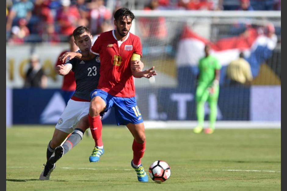 Bryan Ruiz no tuvo su mejor debut en la Copa América, con Costa Rica. (Foto: AFP)