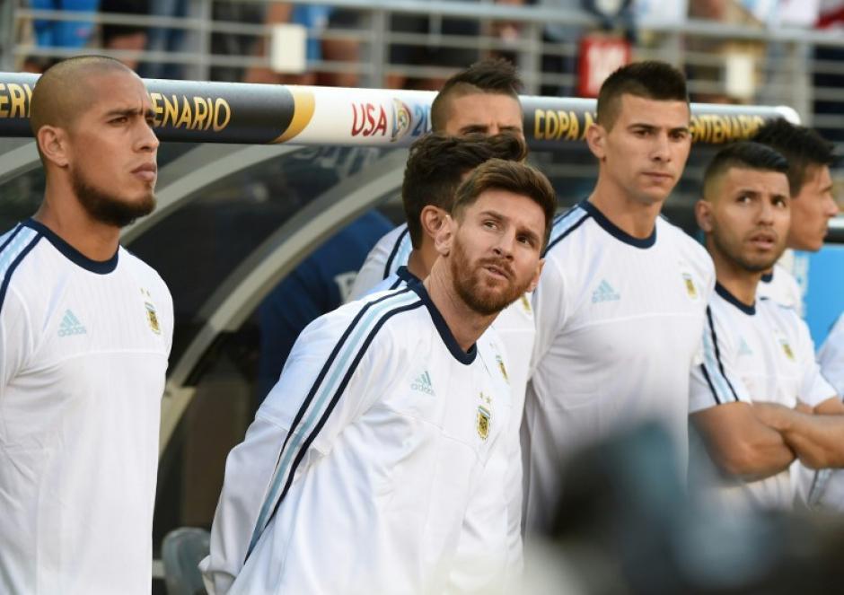 Lionel Messi no jugó con Argentina en el debut de la albiceleste en la Copa América Centenario. (Foto: AFP)