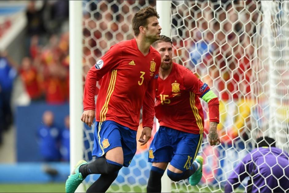 Piqué anotó el gol del triunfo de España, no lo celebró con mucha efusividad. (Foto: AFP)