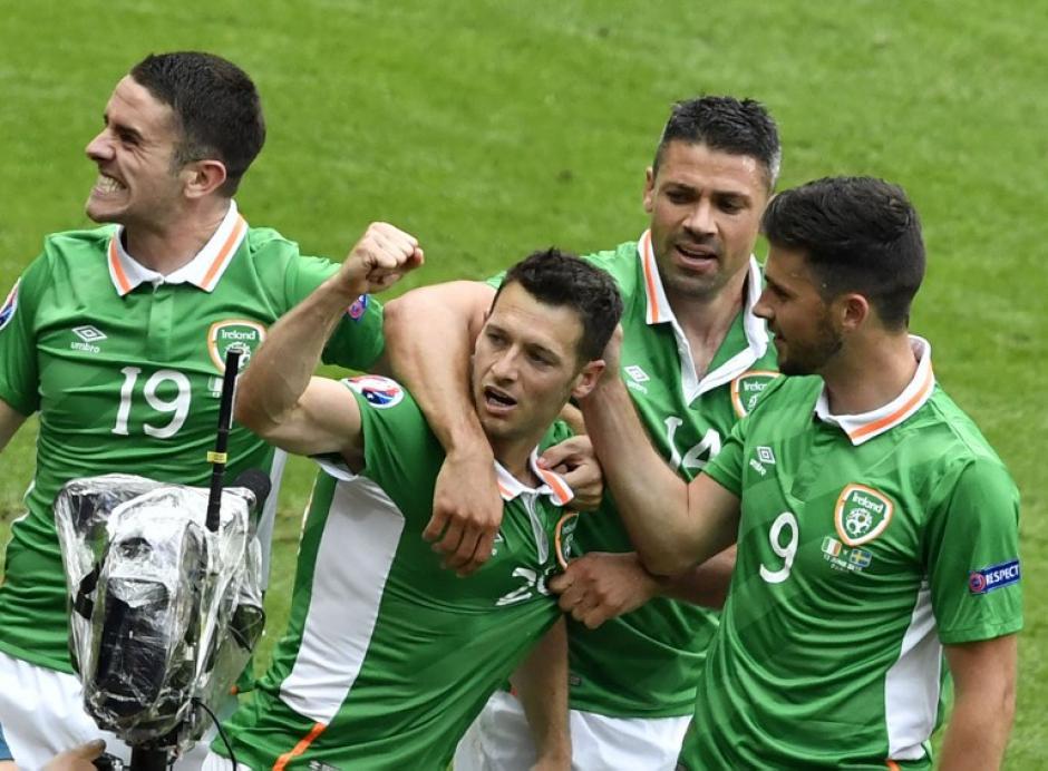 Irlanda se puso en ventaja con gol de Hoolahan. (Foto: AFP)