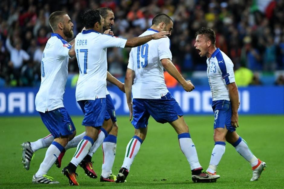 Italia debutó en la Eurocopa 2016 derrotando a Bélgica. (Foto: AFP)