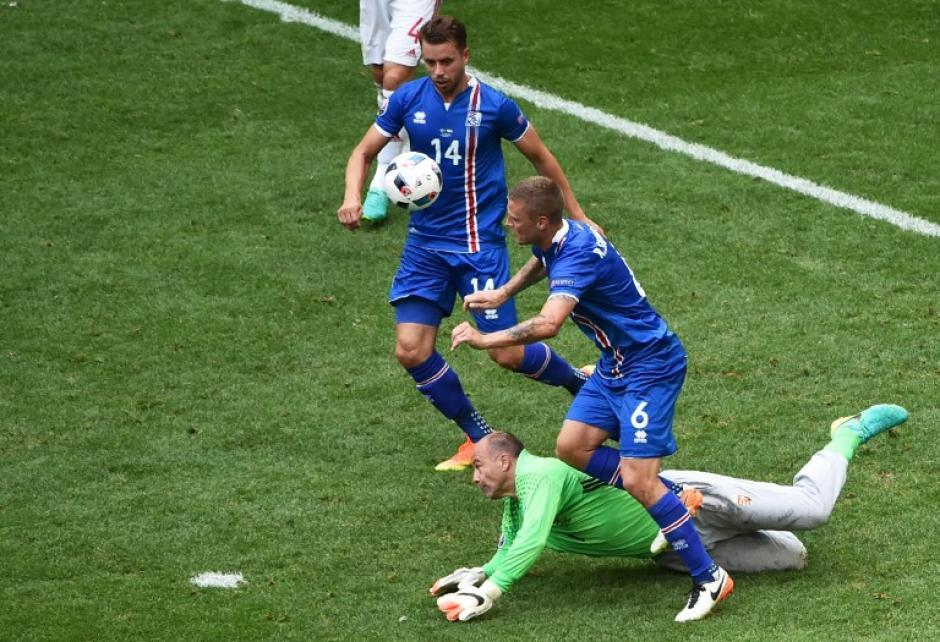 Islandia se había puesto en ventaja en el primer tiempo con un polémico penal. (Foto: AFP)