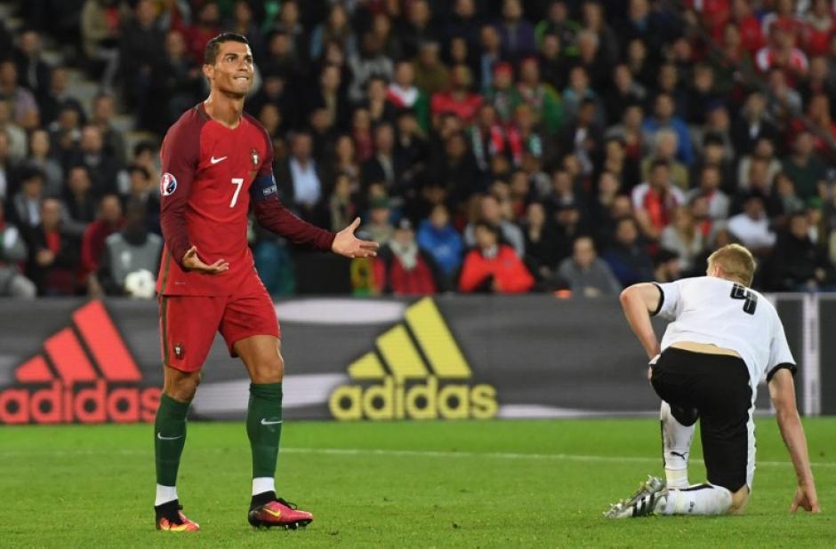 Cristiano Ronaldo falló un penal en el segundo tiempo y Portugal no pudo con Austria. (Foto: AFP)