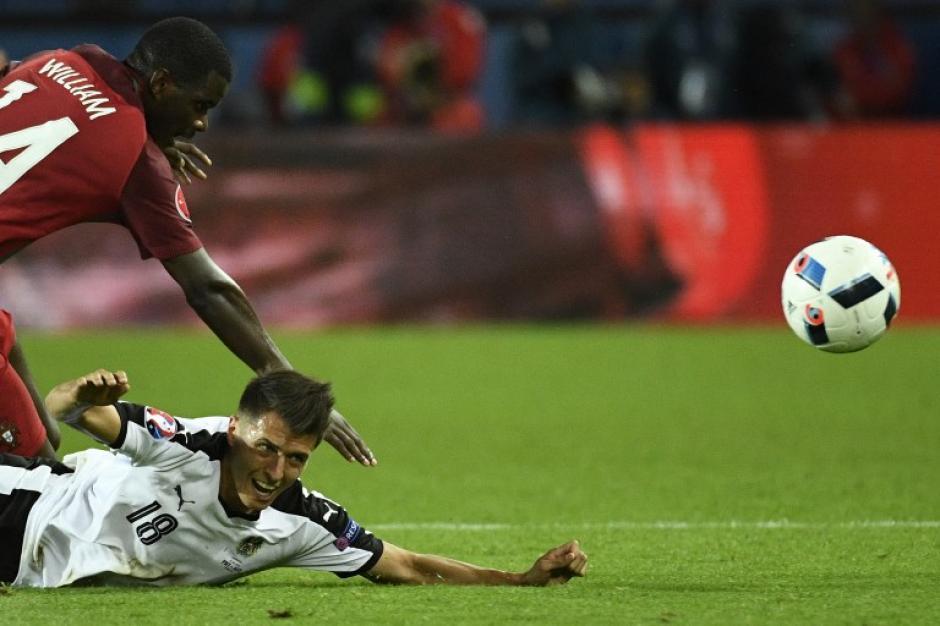 Austria plantó resistencia y empató con el favorito del partido: Portugal. (Foto: AFP)