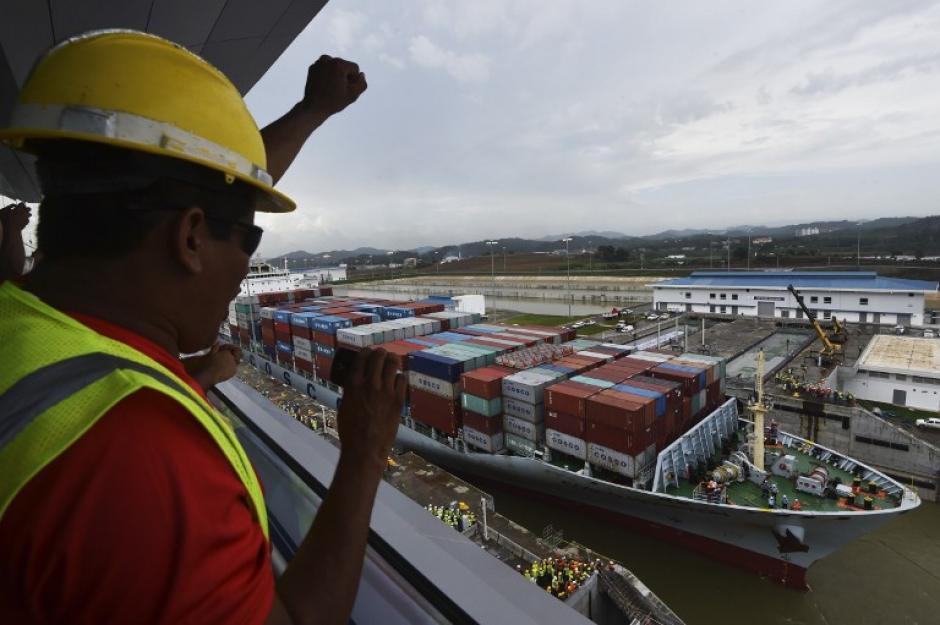 Panamá apura los preparativos para recibir al buque chino Cosco Shipping Panamá. (Foto: AFP)