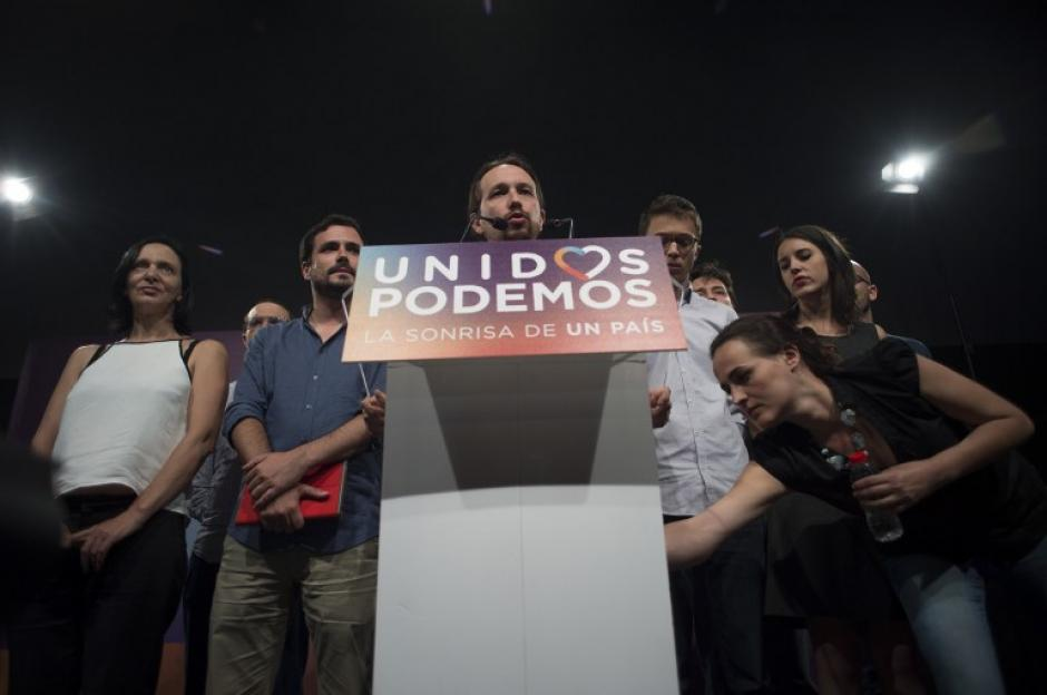 Podemos de Pablo Iglesias quedó en tercero. (Foto: AFP)