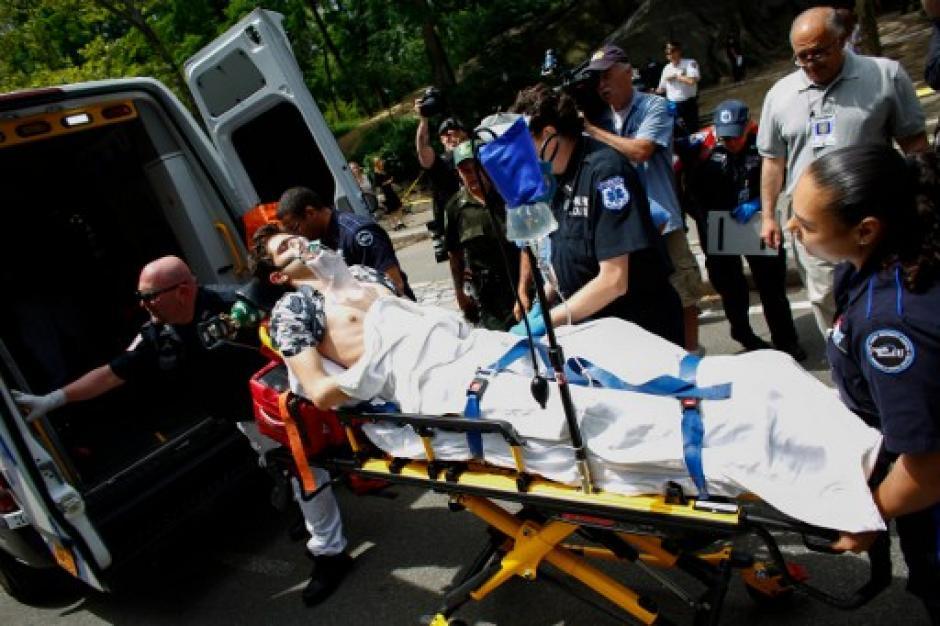 Según los primeros reportes, la explosión pudo ser provocada por un cohete de fuegos artificiales. (Foto: AFP)