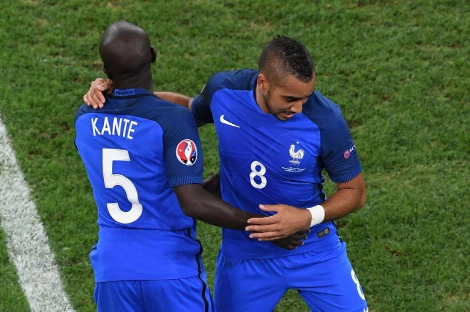 Kanté durante la final que Francia perdió ante Portugal (AFP)