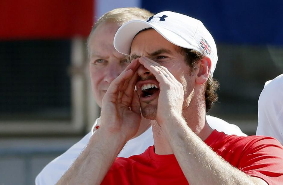 Andy Murray apoya a sus compañeros de Gran Bretaña.  (Foto: AFP)
