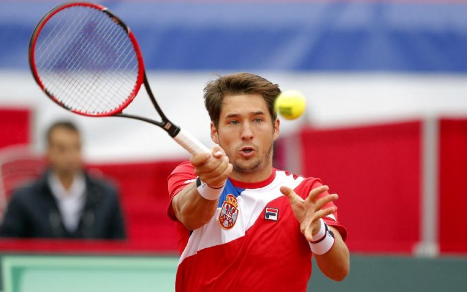 Dusan Lajovic, de Serbia, que no cuenta con Novak Djokovic (Foto: AFP)