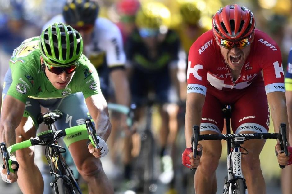 Peter Sagan batalló hasta el final con Alexander Kristoff. (Foto: AFP)