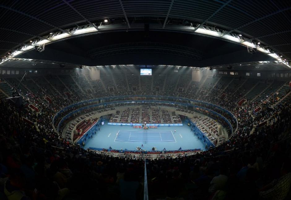 Vista del parque de tenis de la Villa Olímpica de Pekín. (AFP)
