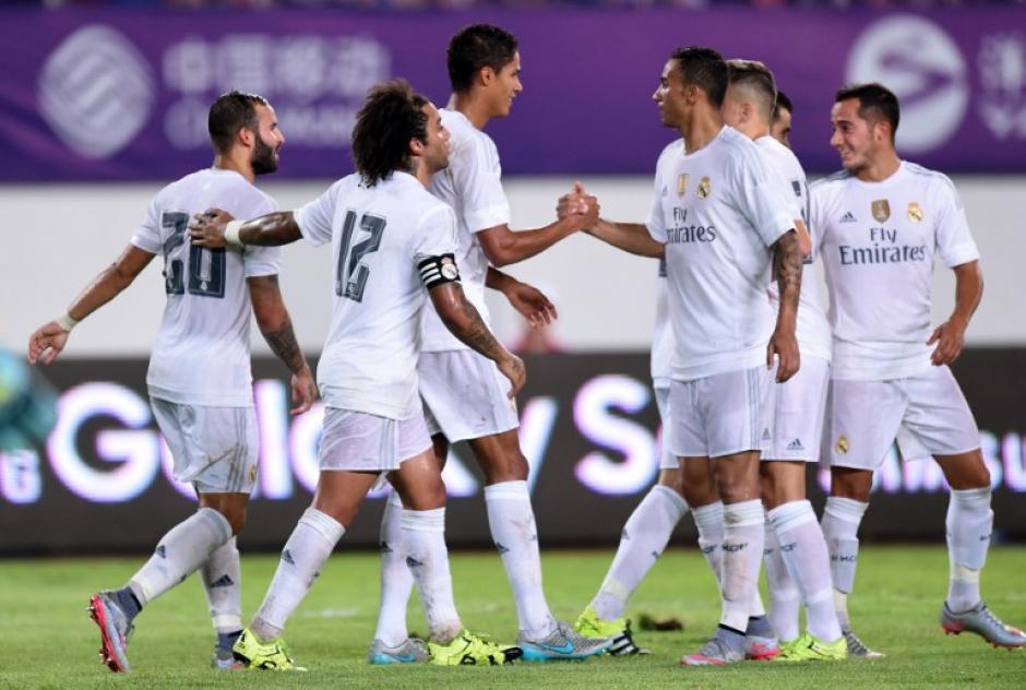 El Real Madrid goleó 3-0 al Inter de Milán en un juego como parte de su gira por Asia. (Foto: AFP)