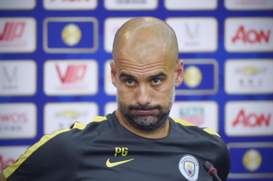 El entrenador lleva unas semanas en el Manchester City. (AFP)