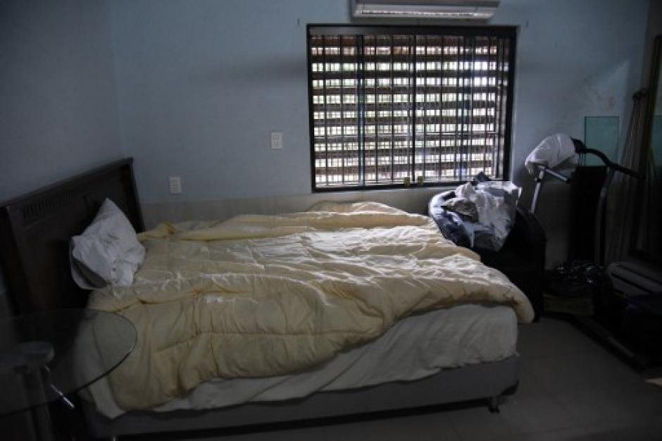 Vista de una de las habitaciones de la celda de Chimenes en una de las cárceles de Paraguay. (Foto: Noberto Duarte/AFP)