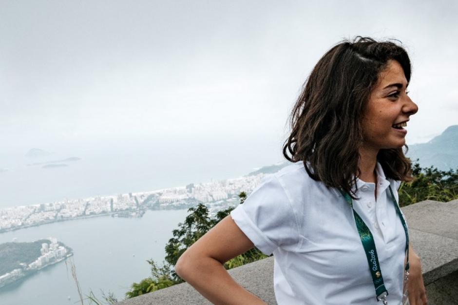 Yusra Mardini cruzó el Mar Mediterráneo para salvar su vida. (Foto: AFP)