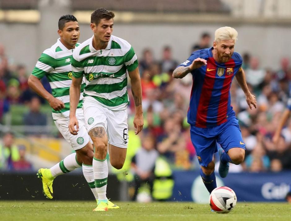 Messi jugó en el primer tiempo, pero a bajo ritmo (EFE)