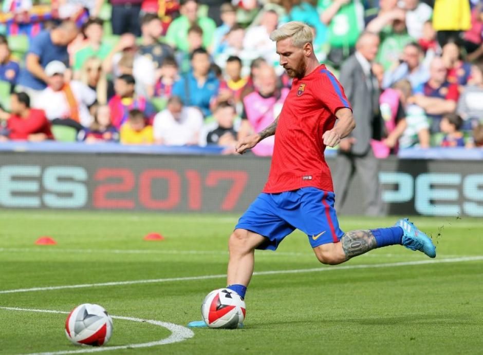 Messi recibirá la visita del nuevo técnico argentino. (AFP)