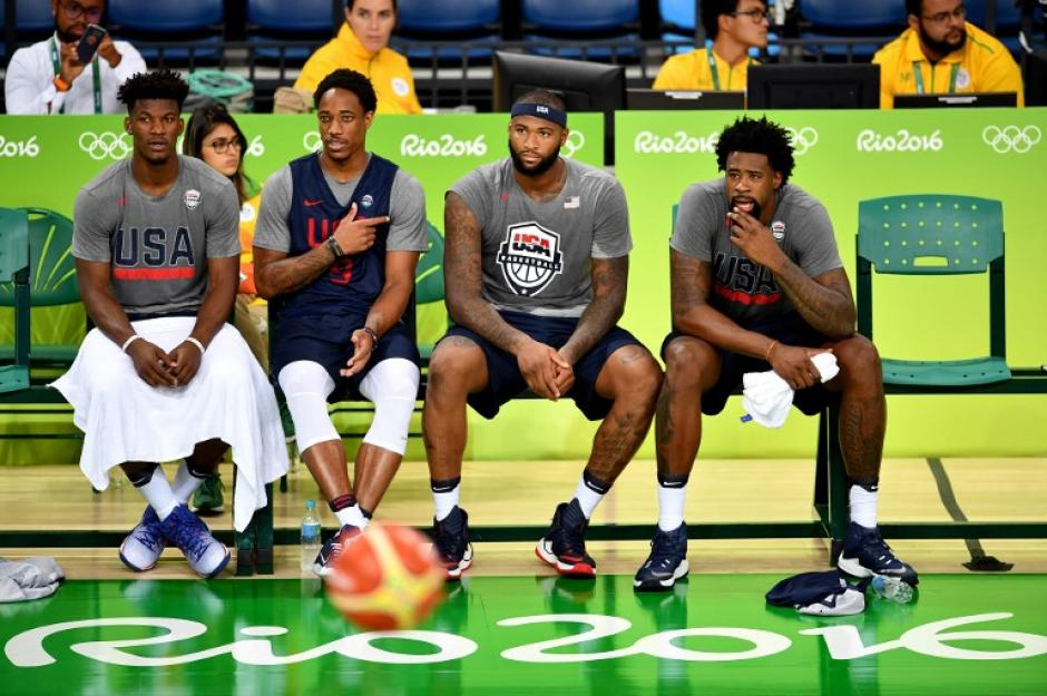 Butler, Jordan, Cousins y DeRozan en Rio (AFP)