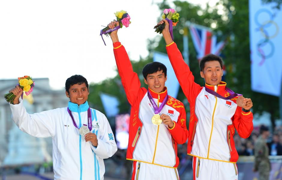 El atleta nacido en Alta Verapaz, subió al podio olímpico por primera vez para Guatemala.(Foto: Archivo/Nuestro Diario)