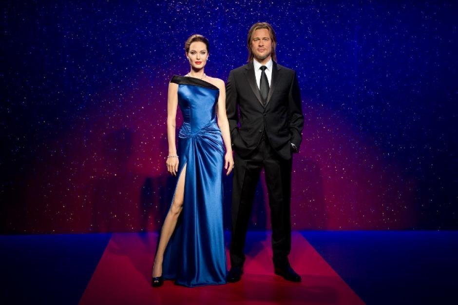 El resultado final con la pose que popularizó Angelina durante la entrega de los Oscar en 2012. Foto AFP