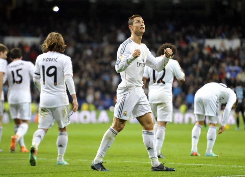 Ronaldo anotó un doblete en la victoria número 14 del Real Madrid en la presente Liga